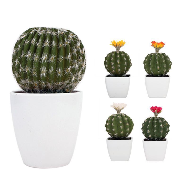 High-End Planta Artificial Bonsai Bela Simulação Cactus DIY Sem Pote Desktop Home Garden Festival Decoração de Casamento