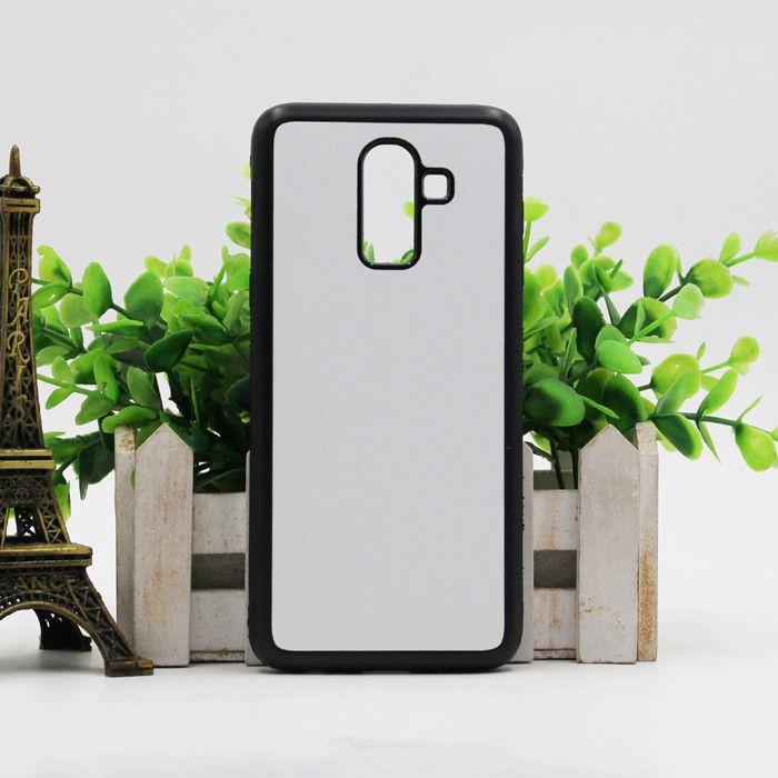Para Samsung J4 J6 Plus Plus 2D sublimación Caucho de TPU en blanco caja del teléfono Con Placa de aluminio para Samsung J7 J8 2018 2018