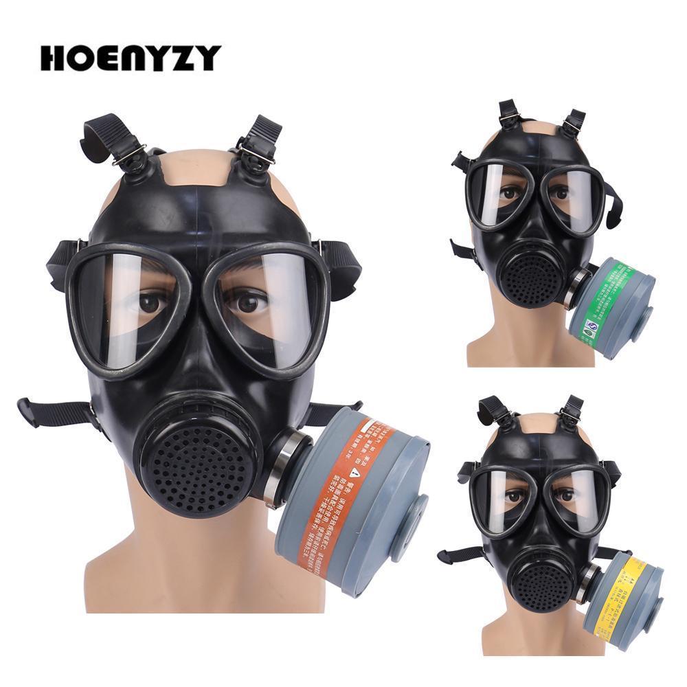 La nueva llegada anti gas máscara pintura de aerosol 87 Ejército soviético militar Chemcial silicona respirador fuego Ejercicio CS completa máscara facial