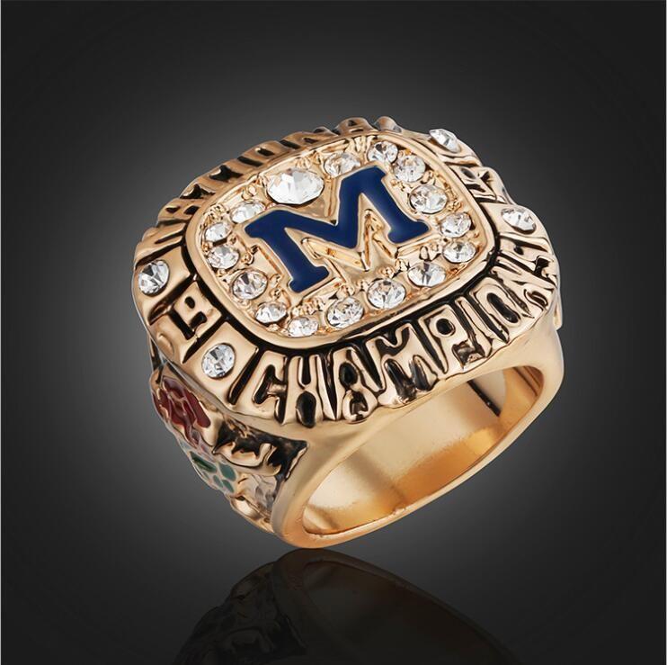 NCAA 1997 Universidade de Michigan Wolverine Rose Bowl High-end Campeonato Anel de Jóias dos homens Amigos Presente de Aniversário Coleção Memorial Fan