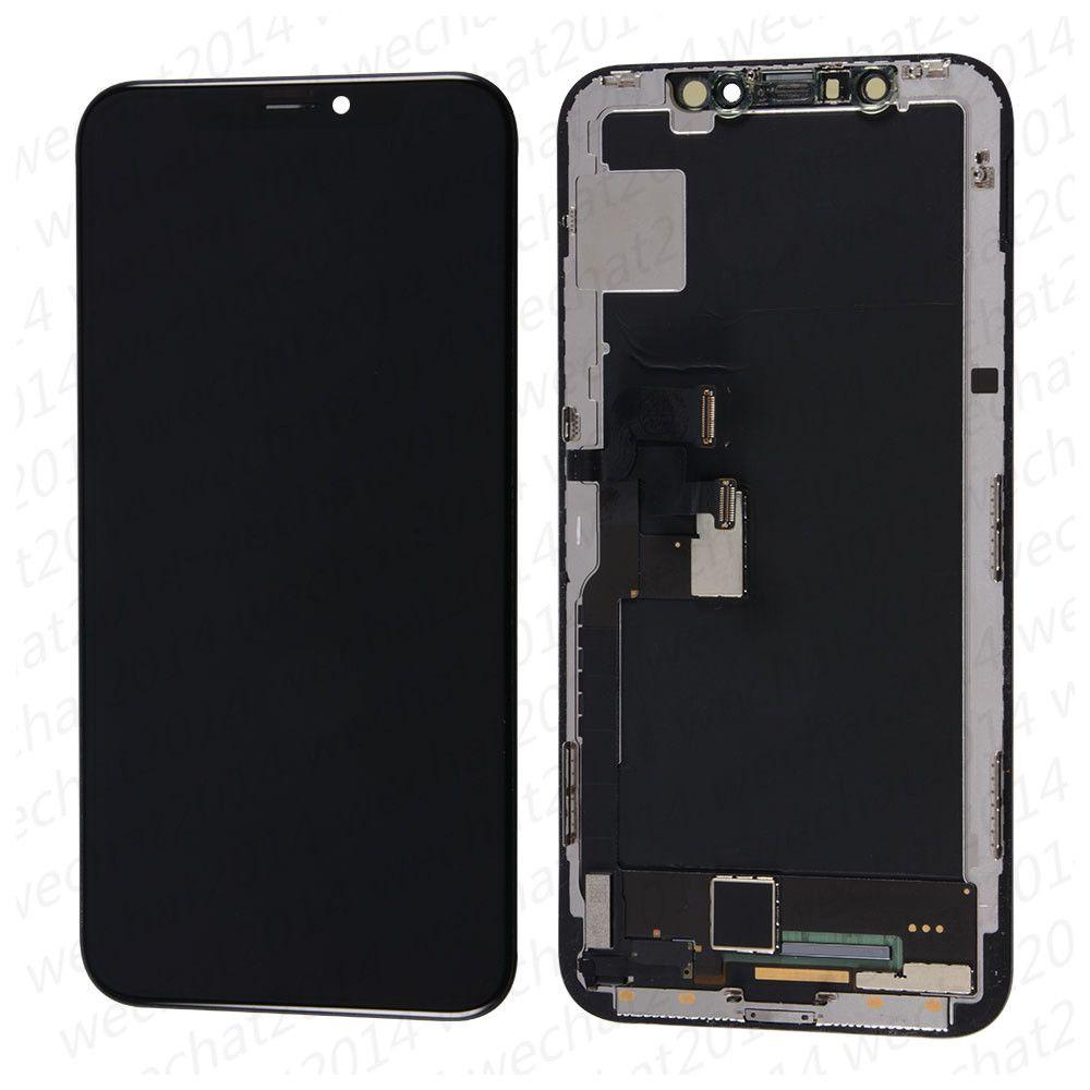 Piezas de reemplazo 10PCS buena calidad OLED LCD de pantalla táctil digitalizador de montaje para iPhone X X Xr DHL
