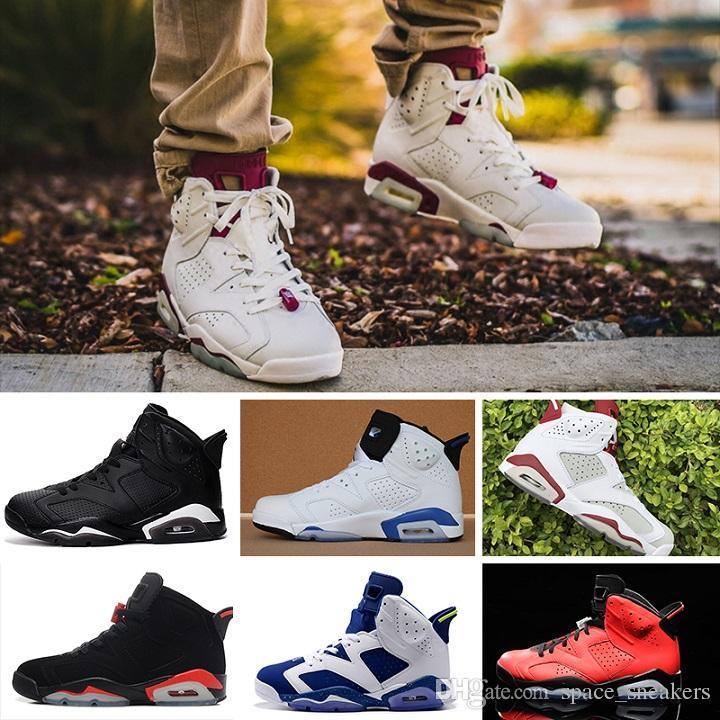 Acheter Pas Cher Nike Air Jordan 6 Retro Haute Qualité Femmes ...