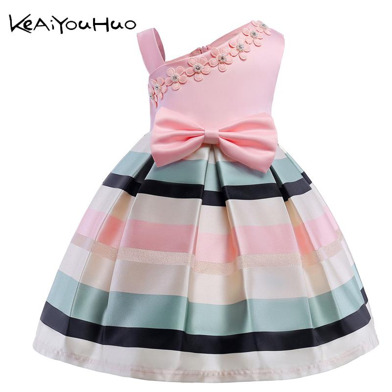 Girls Dress Summer Girl Floral Princess Party Dresses Children Clothing Wedding Tutu Baby Girl Clothes 2 3 4 5 6 7 8 9 10 Years MX190724