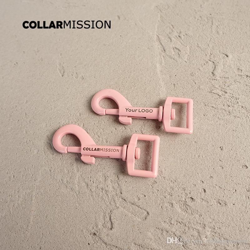 10pcs / lot Metallic Pink gefärbt Backen Farbe Hund Clip dauerhafte und starke Drehhaken bieten wir Lasergravur Service anpassen LOGO CPK20P
