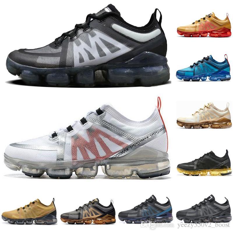Nike Air VaporMax Erkekler Kadınlar Için hava Yastığı Koşu Ayakkabıları Beyaz Siyah Alüminyum Mavi Yeşil Tasarımcı Spor Nefes Sneakers Erkek Eğitmenler