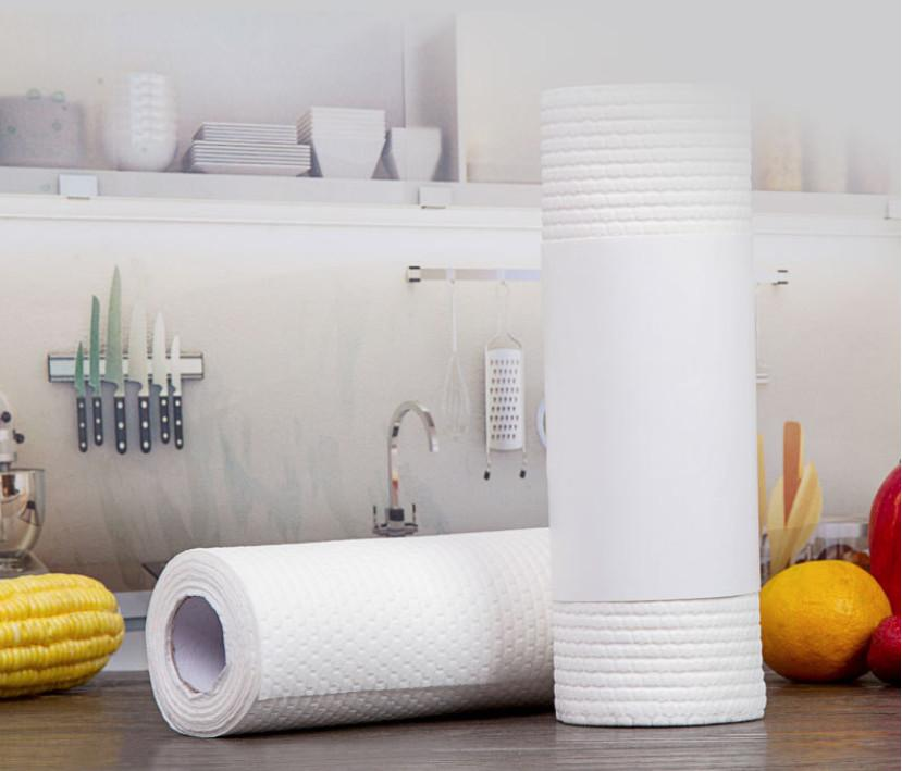DHL على استعداد لشحن ، رولز مطبخ ورق امتصاص زيت امتصاص المياه لفة المرحاض ورق مطبخ ورق منشفة قابلة للتخلص مجانا الشحن FY6131