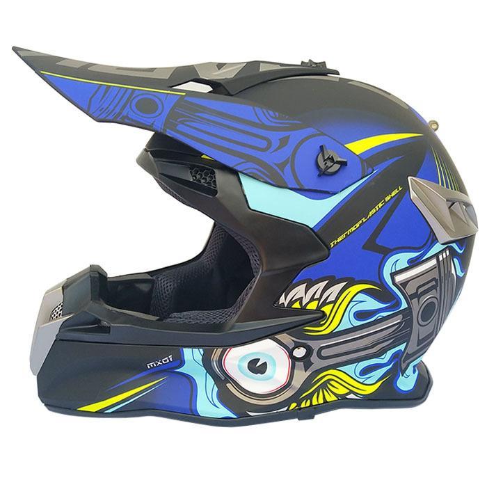 Professional Motocicleta Off-road Capacete Motocross capacete azul completa 0408-20