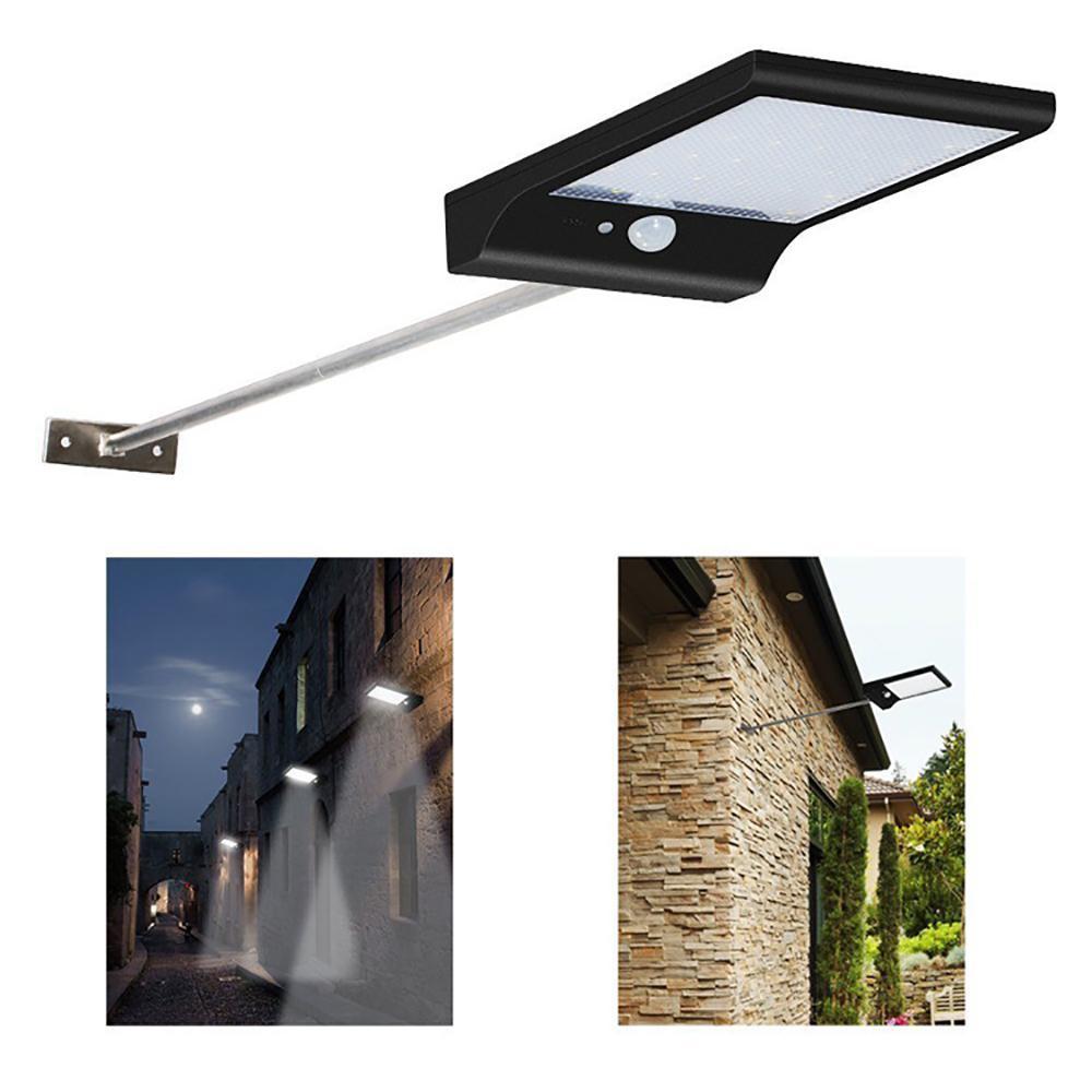 Outdoor LED Solar Power Straße Wandleuchte PIR Bewegungssensor Gartensicherheitslampe Wasserdichte IP65 Drahtlose Wand Lights36LED 450LM