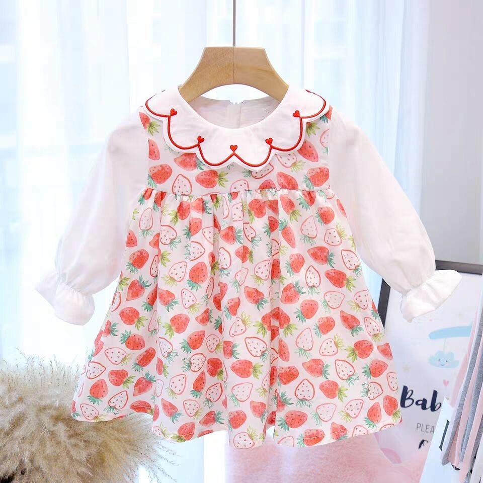 Neonata del manicotto lungo del vestito copre 2020 primavera-estate principessa infantili vestiti dalla ragazza per i vestiti dei bambini Vestiti