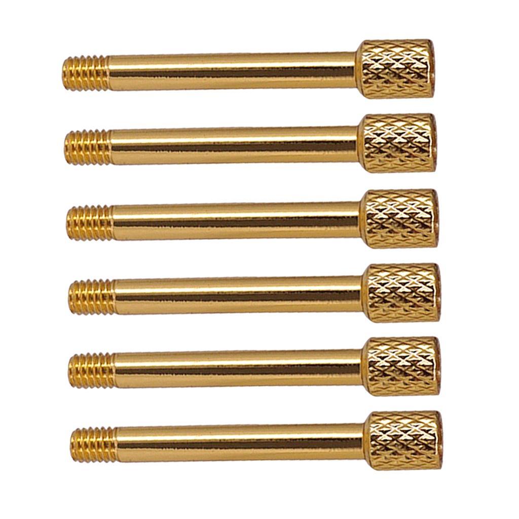 6pcs elektrische Gitarren-Brücke Saddle Lock-Verschlussschrauben für Doppel Tremolo