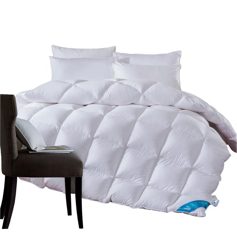 Acheter 1 3 4 7 Kg Duvet De Canard Couette Couverture De Couette Pour La Couverture En Coton Blanc Hiver Ete Couette Roi Queen Size Double