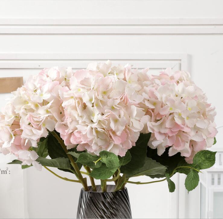 2020 Party Supplies Artificial Hydrangea Flower Head 54cm Fake