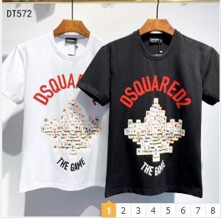 été T-shirt Nouveau 2019 courte mode hommes t-shirt manches chemise O-cou vacances D2 manchon lettres tees occasionnels imprimer haut