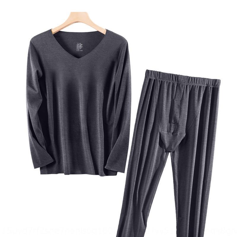 SQQwO 2020 g25j7 ve Sıcak erkek iç giyim ve sonbahar Kış a kumlama yeni ısıtma polar termal iç çamaşırı giysiler dikişsiz hızlı sıcak giysi
