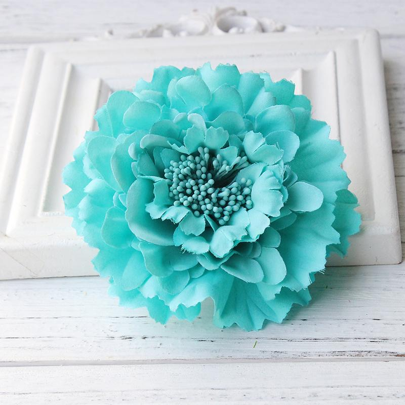 Newest style Fabric Blooming peony Flower Corsage Brooch woman Hair Decorations & Brooch wedding party Hair Clip Bridal Wedding