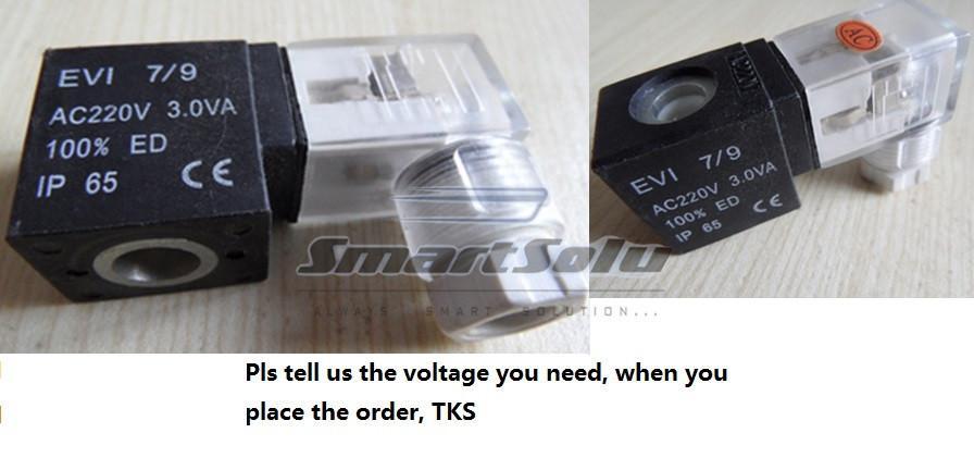 Frete Grátis 1PCS elétrica DIN solenóide bobinas DC12V para pneumática válvula solenóide 4V110-06 DC24V, AC110V ou AC220V
