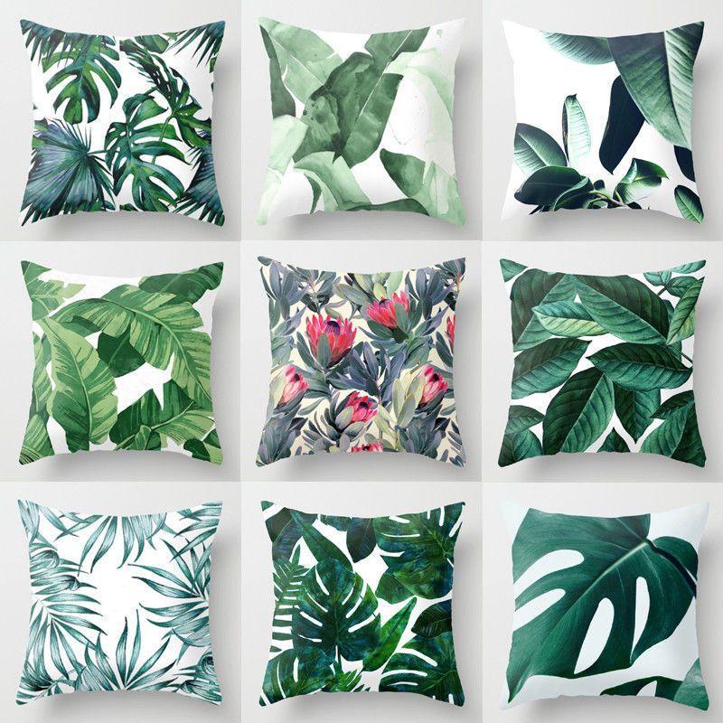 10pcs New Vintage Pillow Case Home Cotton Linen Waist Throw Print Cover Eight Styles C19041301
