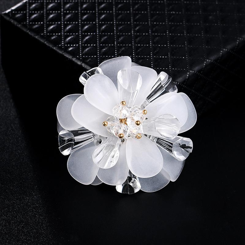 Charm Flower Brooch Pin Fashion Corsage Pin Bridal Jewelry Cloth Scarf Pins Romantic Women Dress Accessories