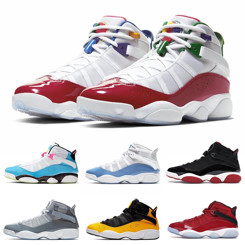 6 Rings Men Basketball Shoes UNC LIGHT