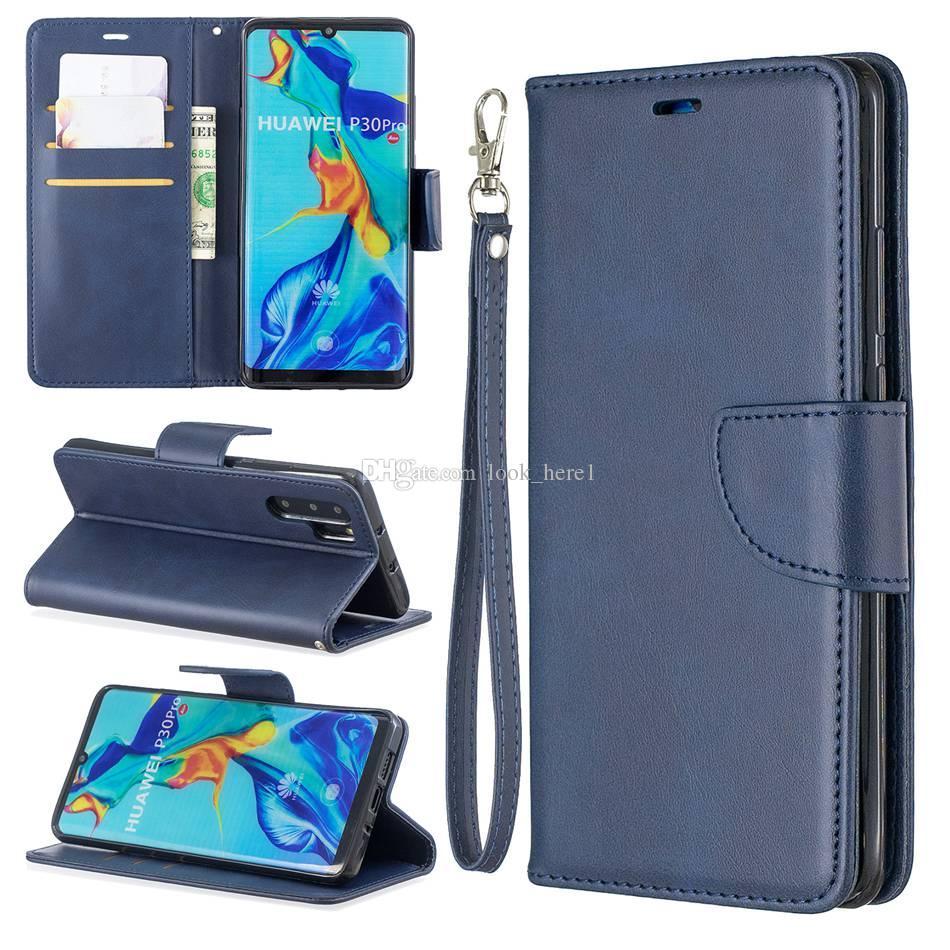 Para Huawei P30 PRO Lite NOVA 4E P smart plus Flip Stand Monedero Cuero Marco de fotos Cubierta del teléfono