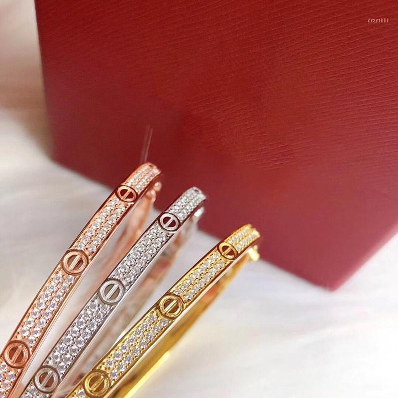 Grenzen Version Armband Sterlingsilber S925 Luxuxschmucksachen Armband-Frauen Hochzeit Schmuck Geschenk Rose Gold und Gold Platin1
