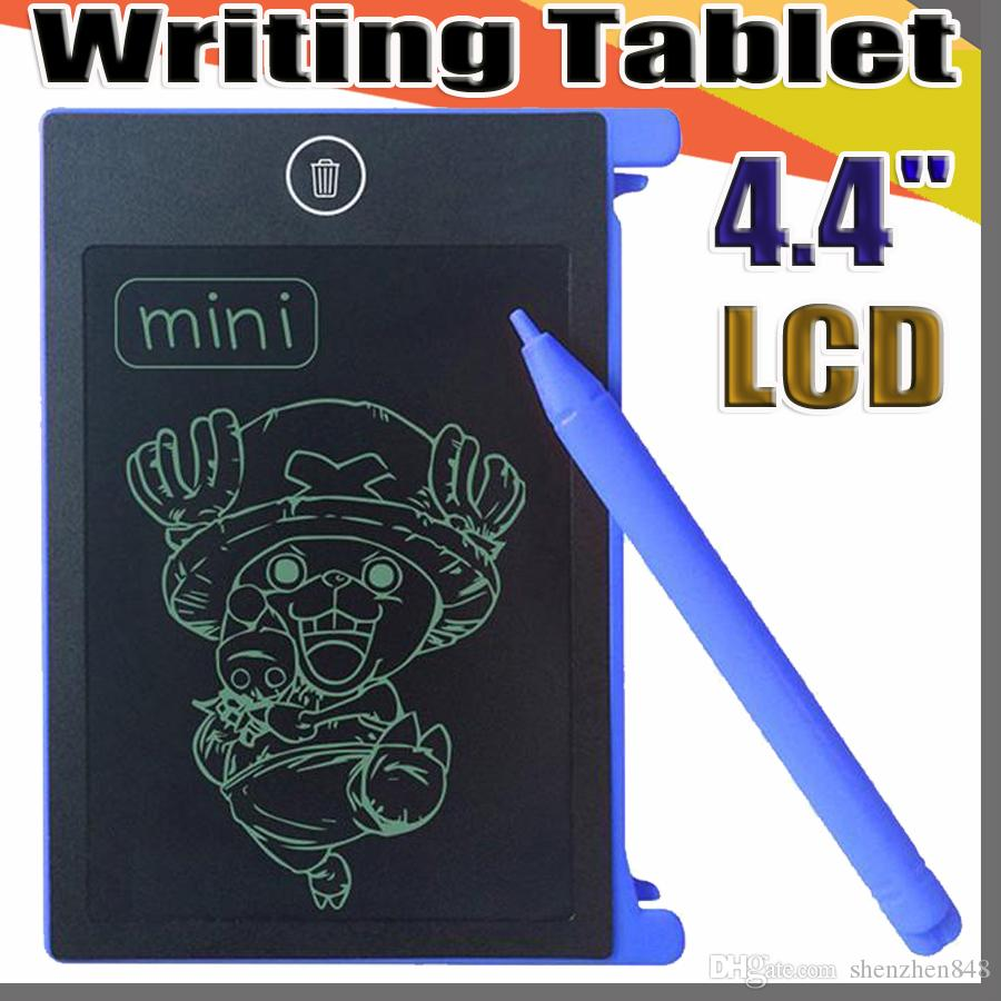 2019 4.4 inch mini LCD Writing Tablet Graffiti Drawing Tablet for Kids Digital Handwritting Pads draft with OPP Bag