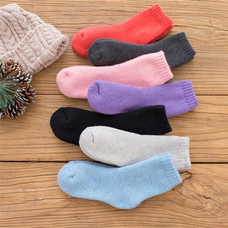 Mujer de lana de conejo Calcetines Otoño Invierno 2018 Hipster Grueso Calcetines Terry Luxo 3 pares de orgullo Calcetines de lana caliente para damas Streetwear