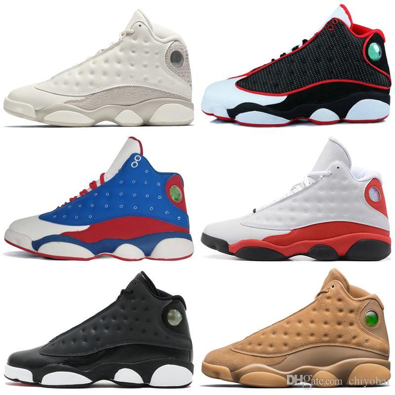 Nike Air Max Retro Jordan Shoes 13s Mens tênis de basquete Fantasma Chicago Hiper Royal Black Flints produziu o gato Histórico Brown de simuladores de voo homens esportes tênis