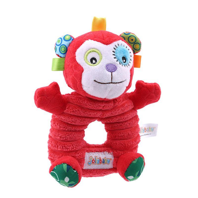 Brinquedos do bebê do bebê Mão aperto Rod Toys Brinquedos Educativos Rattle Presentes animais do BB vara Mão Toy Sino bebê Crianças