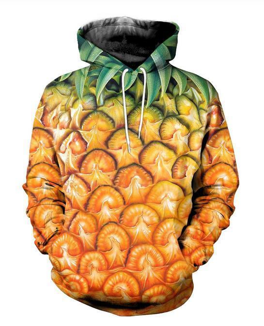 2020 New Fashion Men hoodies pineapple 3D Print Hoodie Unisex Casual streetwear hoody Sweatshirt Free Shipping AA0210