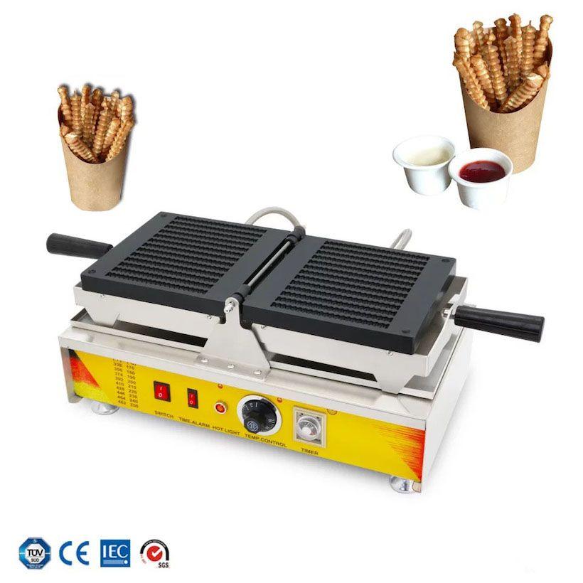Cips Pop Waffle Maker Yeni Popüler Alman Sokak Gıda Ekipmanları Waffle Stick Yapma Makinesi Waffle Chips Maker