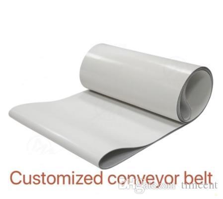 Périmètre: 3200mm * 50 mm * 2 mm (sur mesure) Transmission PVC blanc Convoyeur alimentaire Ceinture industrielle