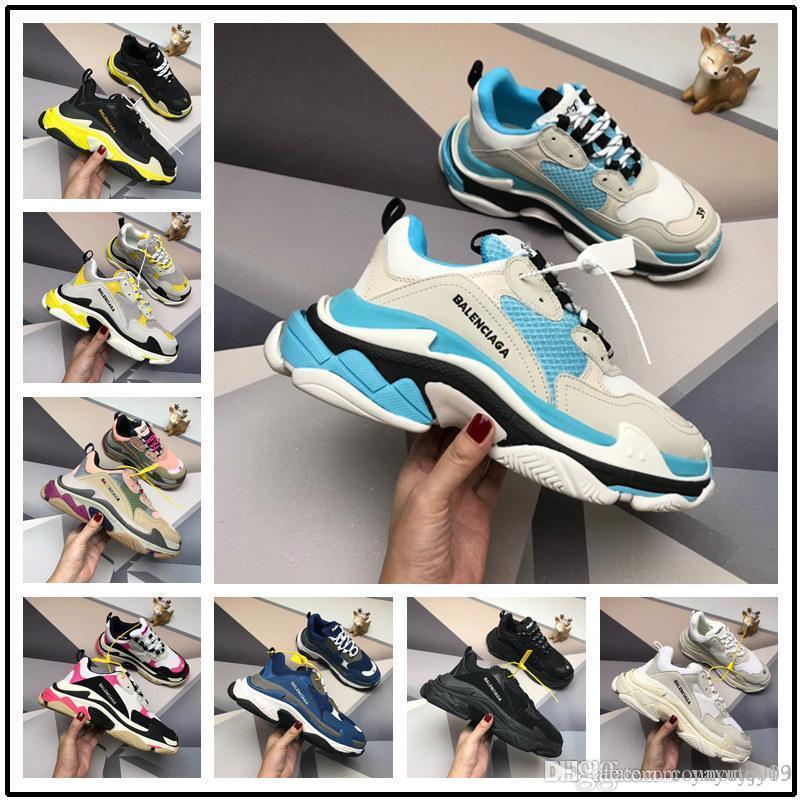 Newst Paris 17FW Triple-S sapatos de corrida sapatos do pai Unisex Homens Mulheres Sneakers instrutor Comfort Casual sapatos tamanho 36-44