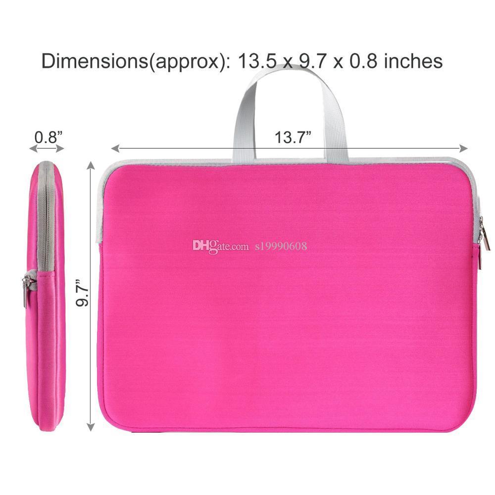Personalizzati antiurto morbida Tote computer Borse cassa interna del sacchetto con la chiusura lampo per notebook Cartella Custodia per Macbook