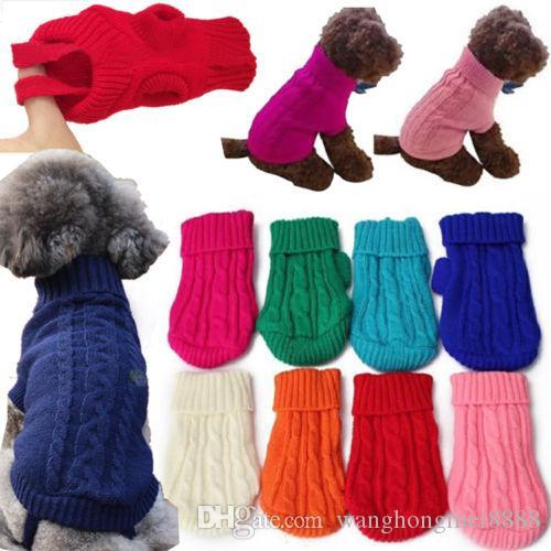 Haustier Hund warme Kleidung Mantel Bekleidung Pullover Pullover Welpen Katze Strickwaren Kostüm Geschenk Hund Pullover Hundebedarf
