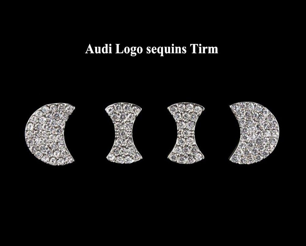 Автомобиль Специальный Рулевое Колесо Алмаз Стикер Отделка Украшения для Audi Q5 Q3 Q7 A3 A5 A7Q2L