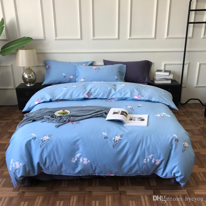4Pcs India Bedclothes Print Bedding Set Quilt Duvet Cover Pillowcase Sheet Decor