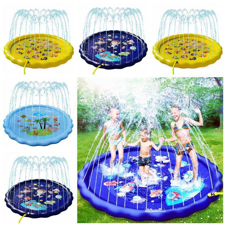 Gonfiabile del bambino Piscina Piscina esterna portatile Kids Pool 170 centimetri Bambini gonfiabile d'acqua a spruzzo rilievo rotondo Acqua Splash Gioca Pool LSK41