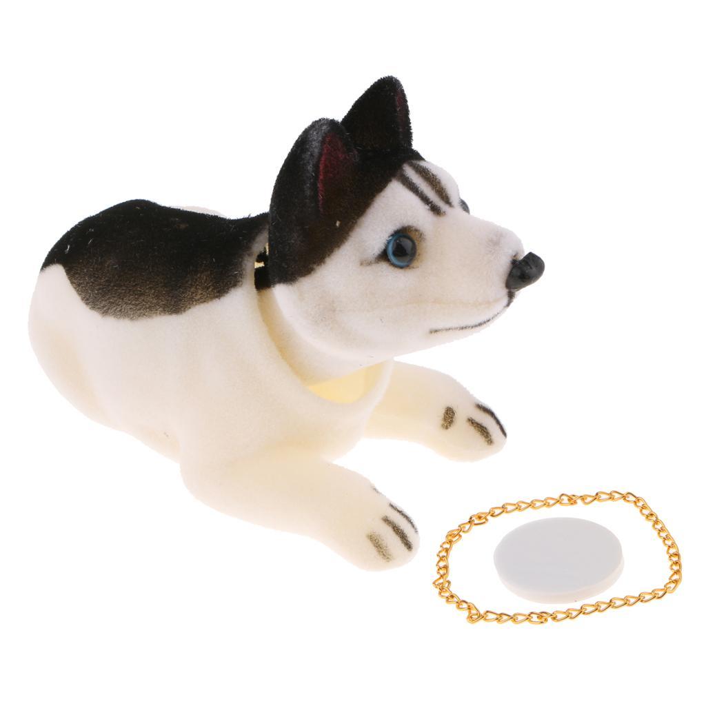Auto-Husky-Hund Puppe Kopf schütteln Wackelhund für Auto-Dekoration Ornament