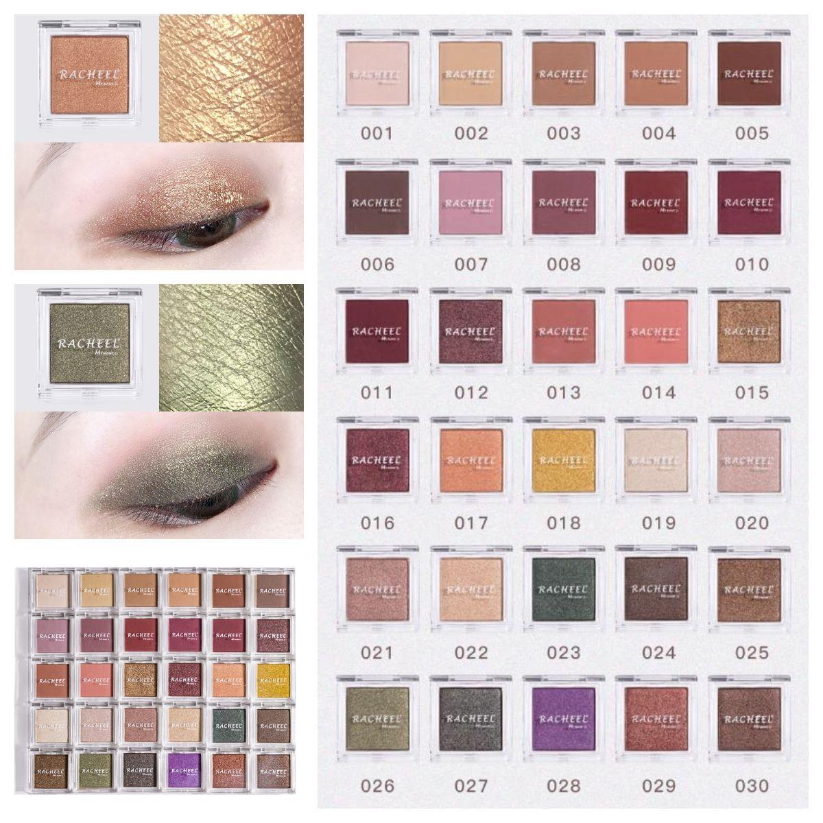 2019 neue 30 farben monochrome eyeshadow matte schimmern polarizing augen make-up feiner puder lidschatten freie kombination