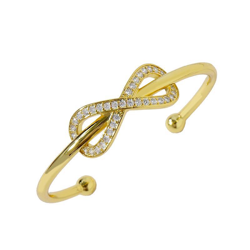 2020 vente chaude nouvelle arrivée bijoux de mode pour les femmes Infinie Bangle bracelet en acier inoxydable meilleure qualité