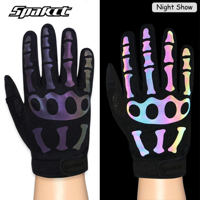 SPAKCT Camouflag Cycling Hiking Outdoor Sport Shockproof Reflective Full Gloves