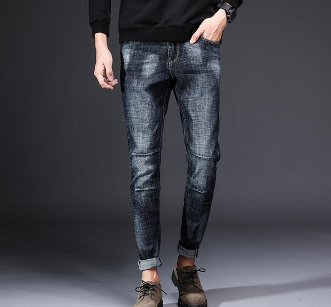 2018 Beliebte neuen Entwurfs-Männer beiläufige Stretch Frühling dünne Jeans CJ191130