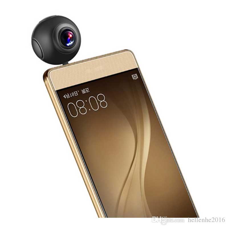 720 Graus HD Dual Lens Panorama Câmera 2048 x 1024 Fisheye Câmera de Visão Panorâmica Da Filmadora VR Esportes Ação 360 Câmera para Android telefones
