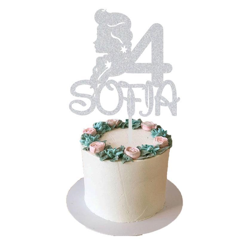 لوازم الديكور المجمدة 2 حزب مخصص كعكة شخصية الاسم العمر ديكور الكيك حزب توبر الأميرة ديكور