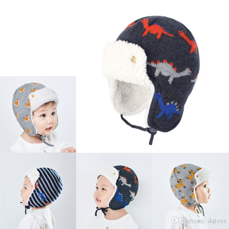 Knitted Hats For Kids Winter Warm Autumn Cotton Fleece Head Wear Accessories New