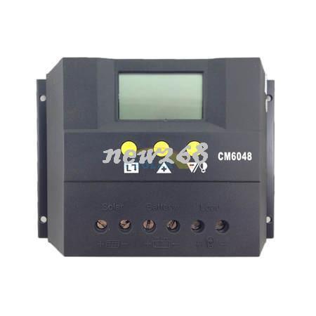 60A Güneş Pili şarj deşarj kontrolörü 48 V LCD ekran Gerilim ayarlanabilir güneş paneli sistemi için yaygın olarak kullanılan güneş regülatörü