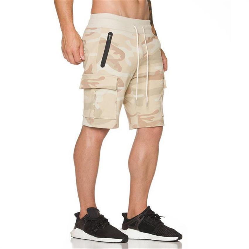 Pantalones cortos deportivos de verano, pantalones cortos para hombres, baloncesto, secado rápido, transpirable, caqui, camuflaje cinco