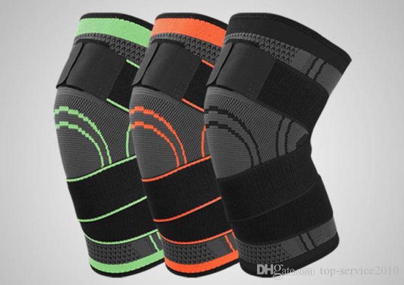 Esportes ao ar livre pressão joelheiras Ciclismo basquete respirável luz joelheiras fabricantes de equipamentos de proteção por atacado frete grátis post