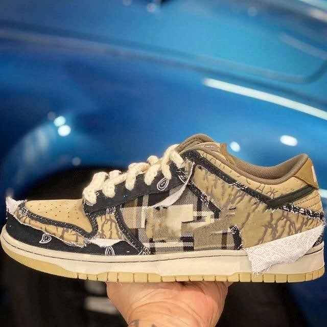 A36-47 Трэвис Скотт х SB Dunk Low Дизайнер Спорт Tear Blue Light Скейтбординг обувь для мужчин Женщины Тренеры дез Chaussures Schuhe Zapatos